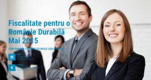 romania durabila - fiscalitate mai 2015