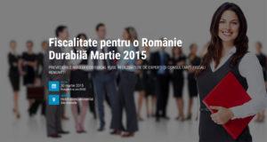 romania durabila - fiscalitate martie 2015