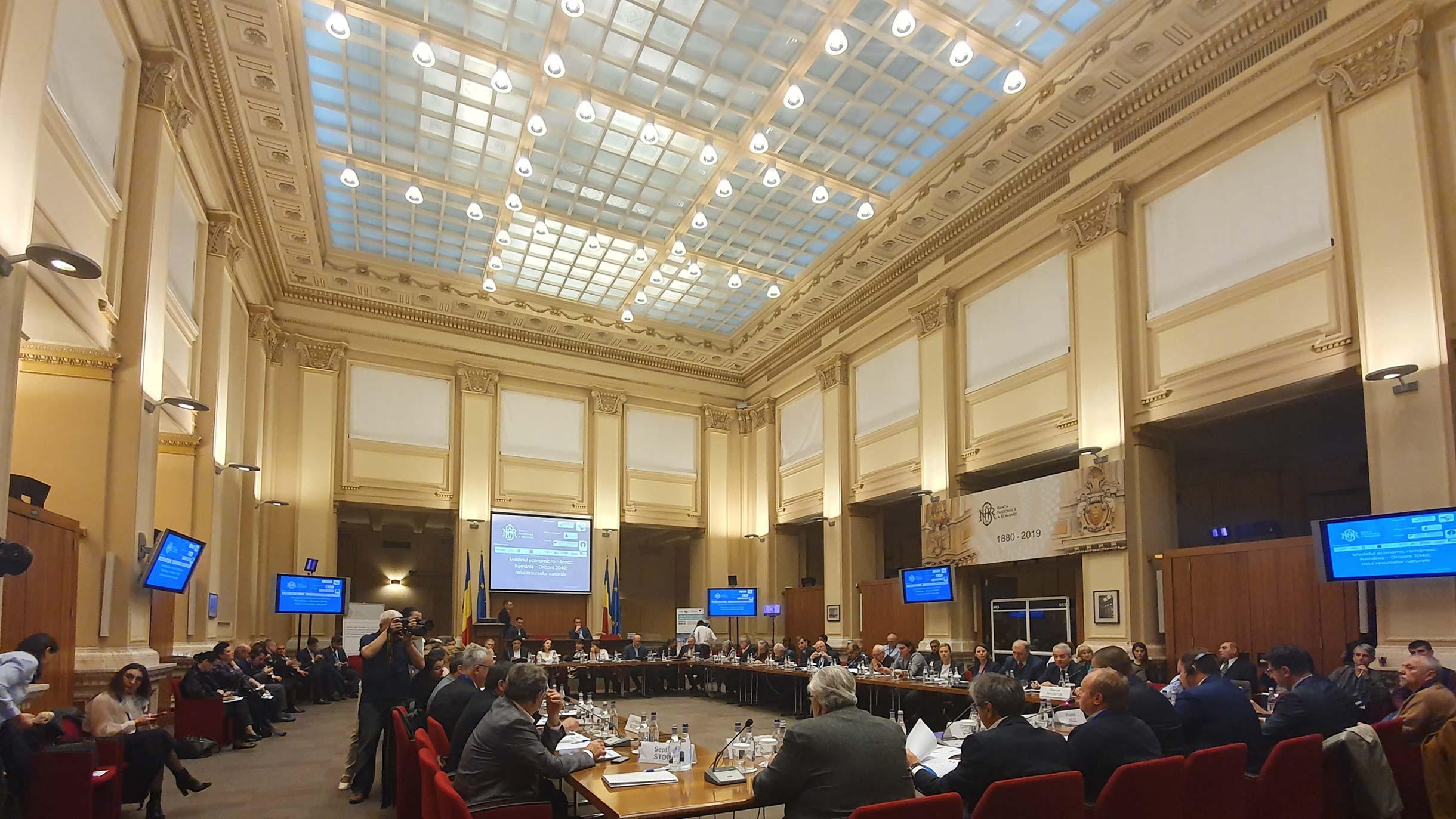 Conferința Modelul economic românesc: România – orizont 2040; rolul resurselor naturale