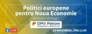 BANNER politici europene pentru noua economie powered by omv petrom - romania durabila