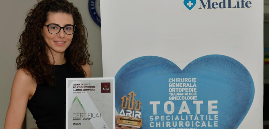 MedLife, cel mai mare operator privat de servicii medicale din România, se alătură ARIR