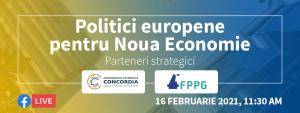 BANNER politici europene pentru noua economie parteneri strategici - romania durabila