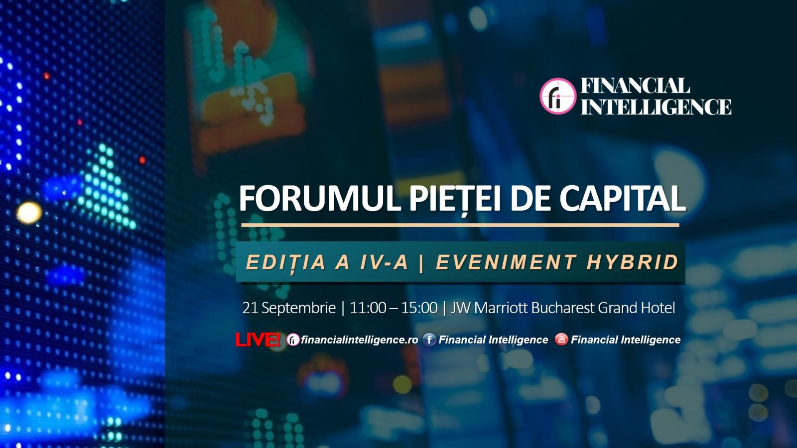 Prim-Ministrul României Florin Cîțu va participa la FORUMUL PIEȚEI DE CAPITAL organizat de Financial Intelligence mâine, 21 septembrie